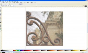 Photograph imported to Inkscape