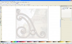 Inkscape shapes drawn with Bezier curves