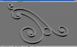 Imported shape converted from curve to mesh and faces extruded