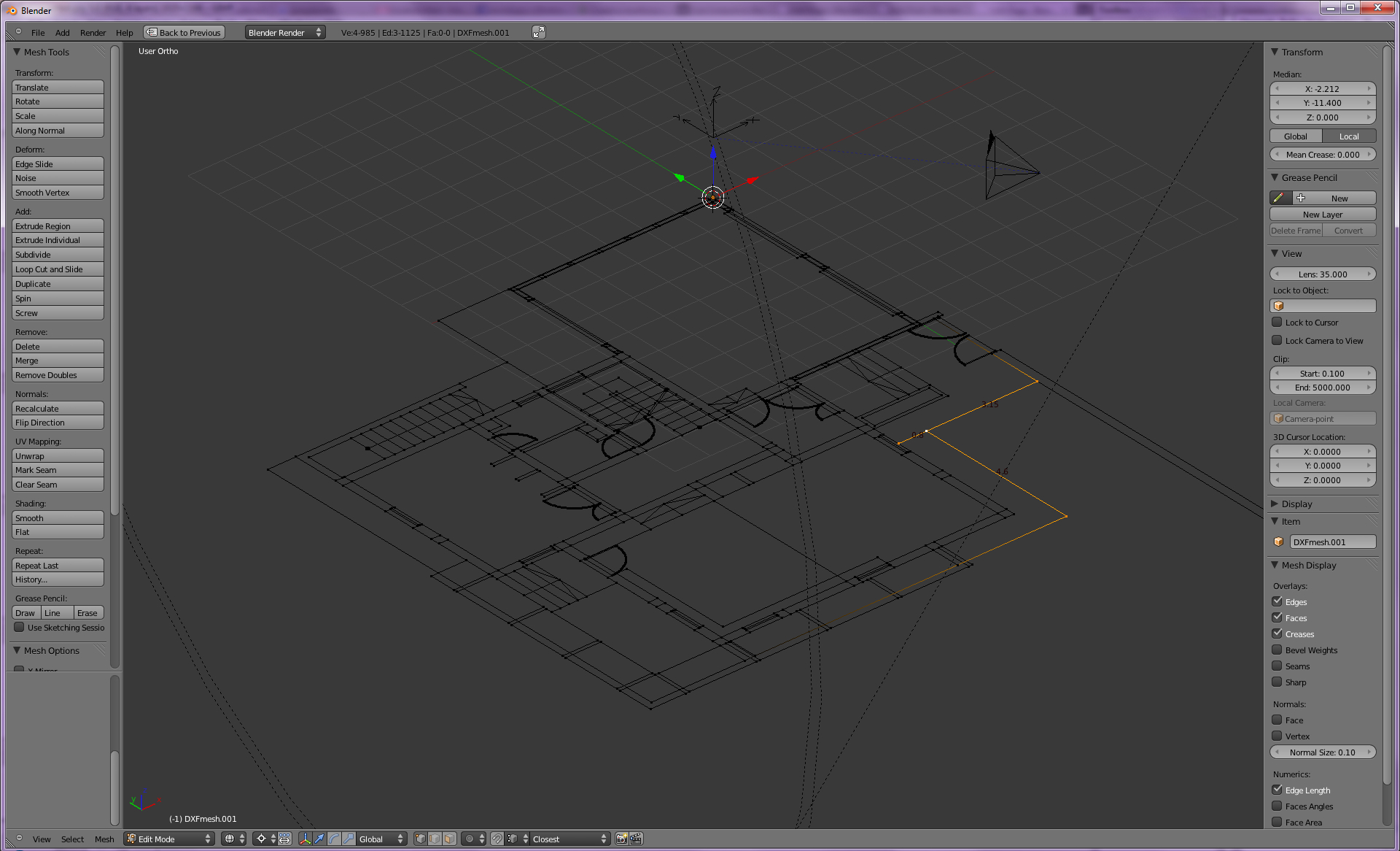 Importing 2d CAD files as modeling reference :: Blender Mama